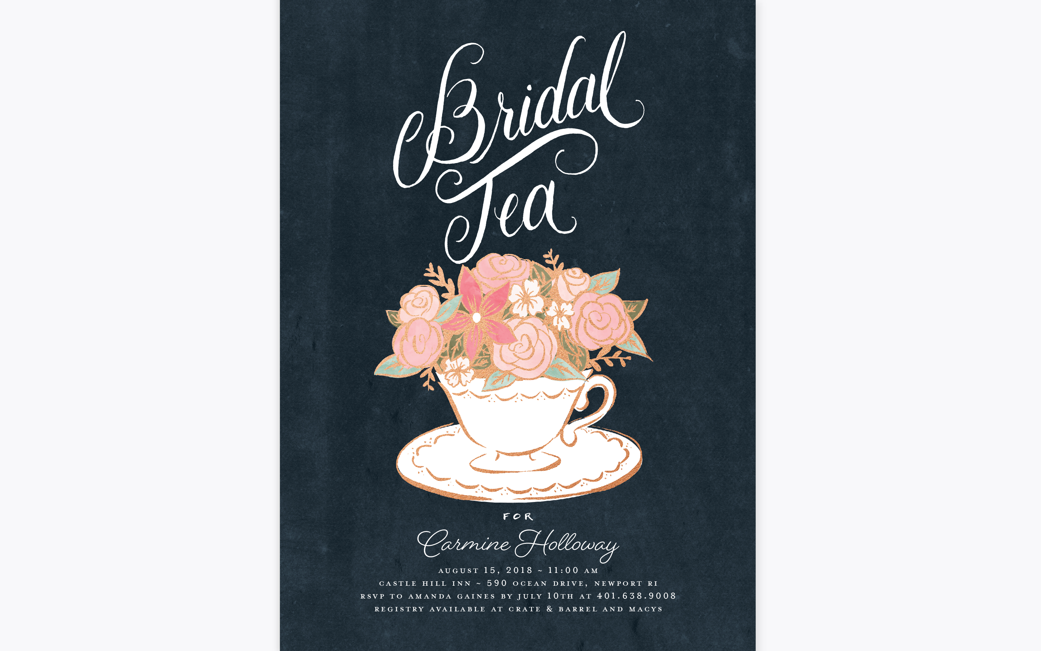 pottsdesign work bridal shower invitation